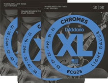 Load image into Gallery viewer, D'Addario Guitar Strings  Electric  3 Pack  ECG25  Chromes  Light.