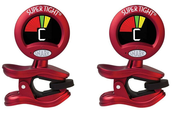 Snark Tuner TWO PACK ST-2 Super Tight All Instrument Tuner w Metronome.
