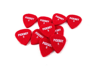 Pickboy Guitar / Uke Picks  - Felt Picks - Reds - Soft.