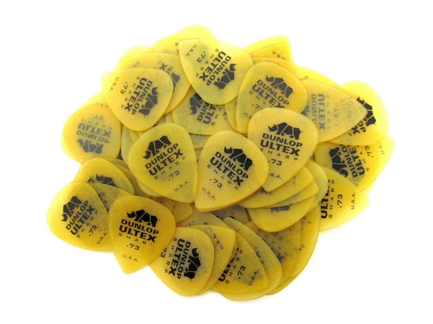 Dunlop Guitar Picks  Ultex Sharp  72 Pack   .73mm  (433R) Medium.