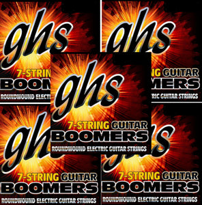 GHS Boomers Guitar Strings 5-Pack 7-String Roundwound Electric Medium Heavy 11-64
