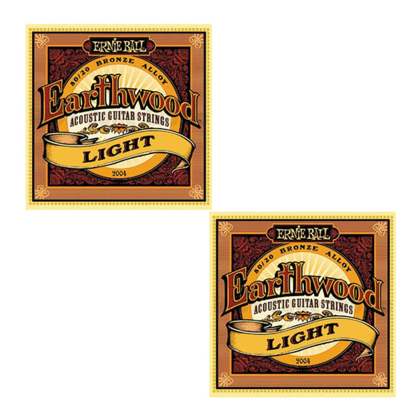 Ernie Ball Guitar Strings 2-Pack Acoustic Earthwood Light 11-52 2004