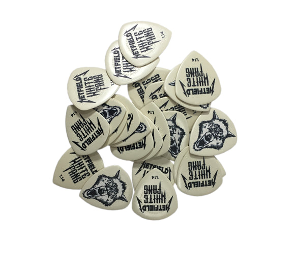 Dunlop Guitar PIcks White Fang 24 Picks 1.14mm James Hetfield