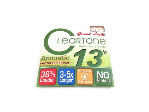 Cleartone Guitar Strings Acoustic Phosphor Bronze Grand Light 13-53 Treated
