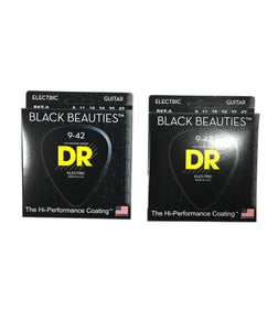 DR Guitar Strings Electric 2-Pack K3 Black Beauties High Performance 09-42.