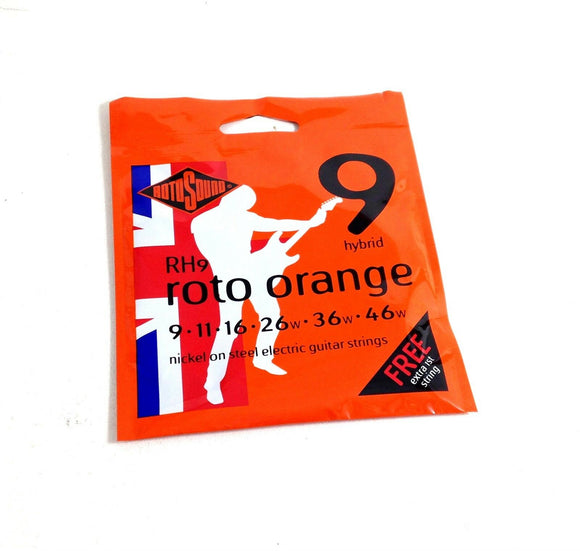 RotoSound Electric Guitar Strings Roto Orange Nickel Steel RH9 Extra String 9-46