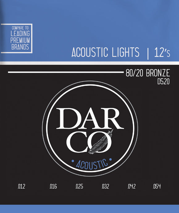 Darco Martin Guitar Strings Acoustic Light 12-54.