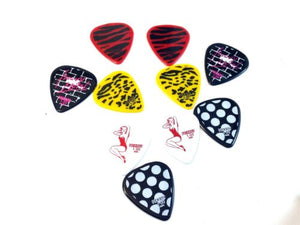 Pickboy Guitar Picks  10 Pack   Heavy Metal  1.00mm  Heavy  Celltex.