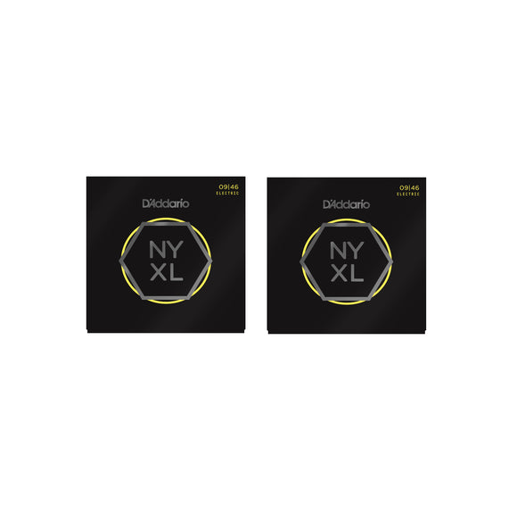 D'Addario Guitar Strings 2-Pack NYXL 0946 Electric Light Gauge 09-46.