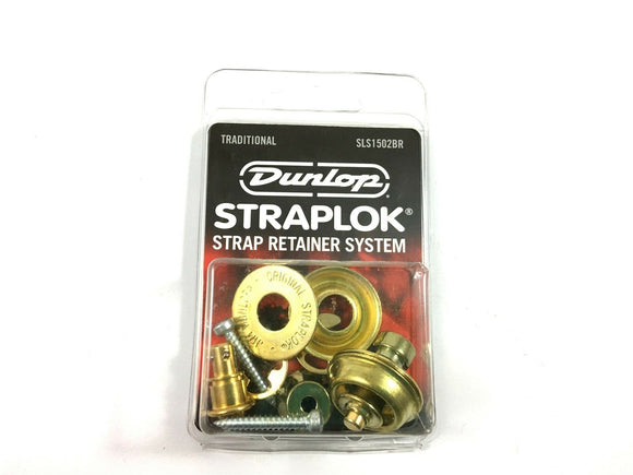 Dunlop Strap Locks - Guitar - Traditional Strap Retainer System Brass.