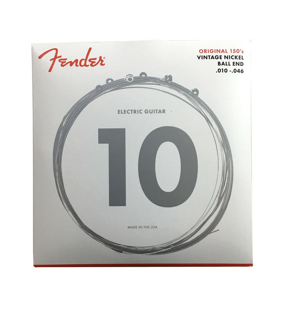 Fender Guitar Strings 150R Pure Nickel Ball End 10-46 Light  Electric