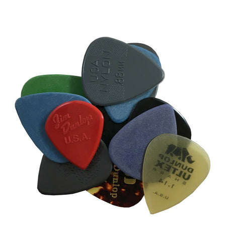 Dunlop Guitar Picks  Variety Pack  12 Picks  Medium / Heavy.