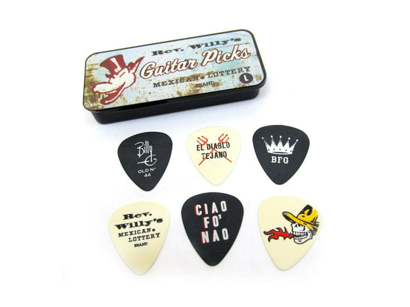 Reverend Willy's Guitar Picks  Billy Gibbons  Pick Tin  6 picks Light Dunlop