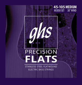 GHS Bass Strings Precision Flats - Medium  45-105 Standard Scale
