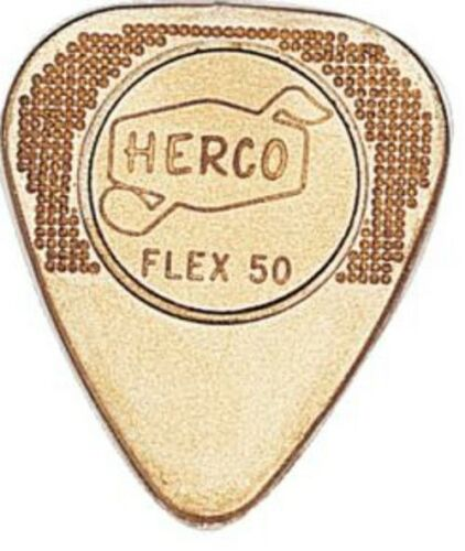 Herco Guitar Picks  12 Pack  Gold Flex 50  Light