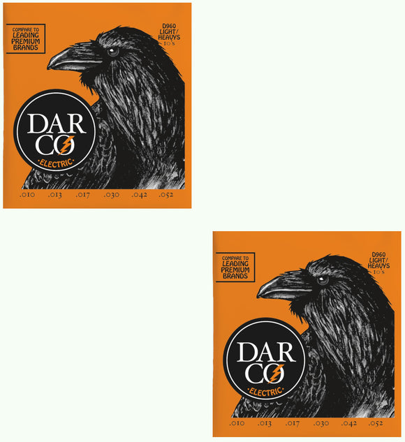 Darco Martin Guitar Strings 2-Packs Electric Light Heavy 10-52 D960.