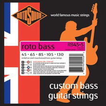 Load image into Gallery viewer, RotoSound Bass Guitar Strings 5-String Roto RB45-5 45-130 Nickel Steel Round Wound.