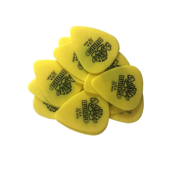 Dunlop Guitar Picks  Tortex  12 Pack  .73 MM Medium (418.P73).