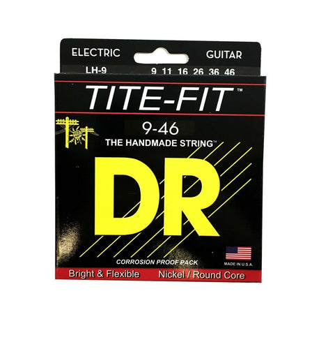 DR Guitar Strings Electric Tite-Fit 09-46 Light and Heavy Handmade USA.