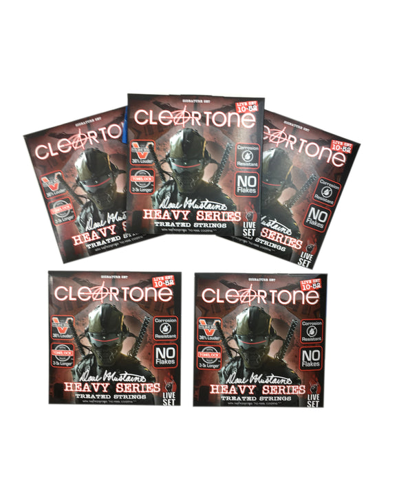 Cleartone Guitar Strings 5-Pack Electric Dave Mustaine Signature Custom Live Set 10-52