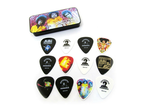 Jimi Hendrix Guitar Picks collectible tin signature series includes 12 Picks.