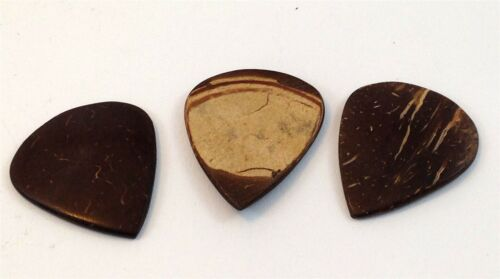 Clayton Guitar Picks  Exotic Series  Coconut Shell  3 Pack.