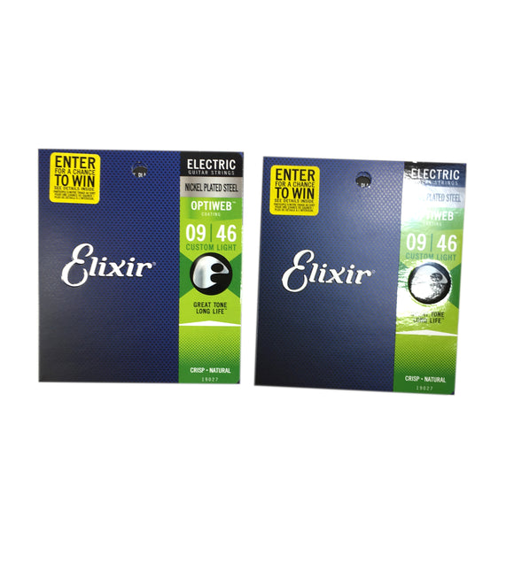 Elixir Guitar Strings Optiweb 2-Pack Electric Super Light 09-46 Long Life