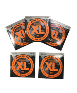 D'Addario Guitar Strings 5-Pack  Pure Nickel  EPN110  Electric  Light.