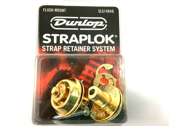 Dunlop Strap Locks - Guitar - Flush Mount Strap Retainer System Gold
