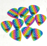 Pickboy Guitar Picks Pro Pos-a-grip  .75mm Medium 10 Pack Celluloid Rainbow