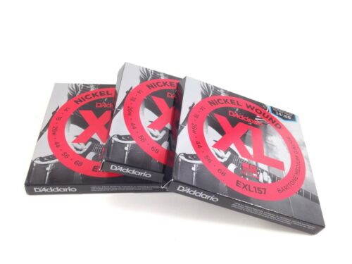 D'Addario Baritone Electric Guitar Strings  EXL157  3 SETS  Medium.