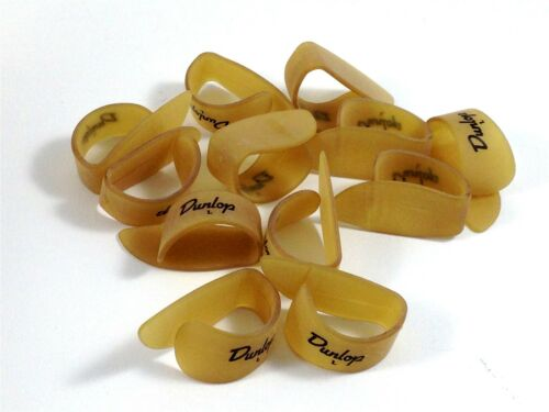 Dunlop Thumb Picks  12 Pack  Ultex Gold  Large  Guitar and Banjo