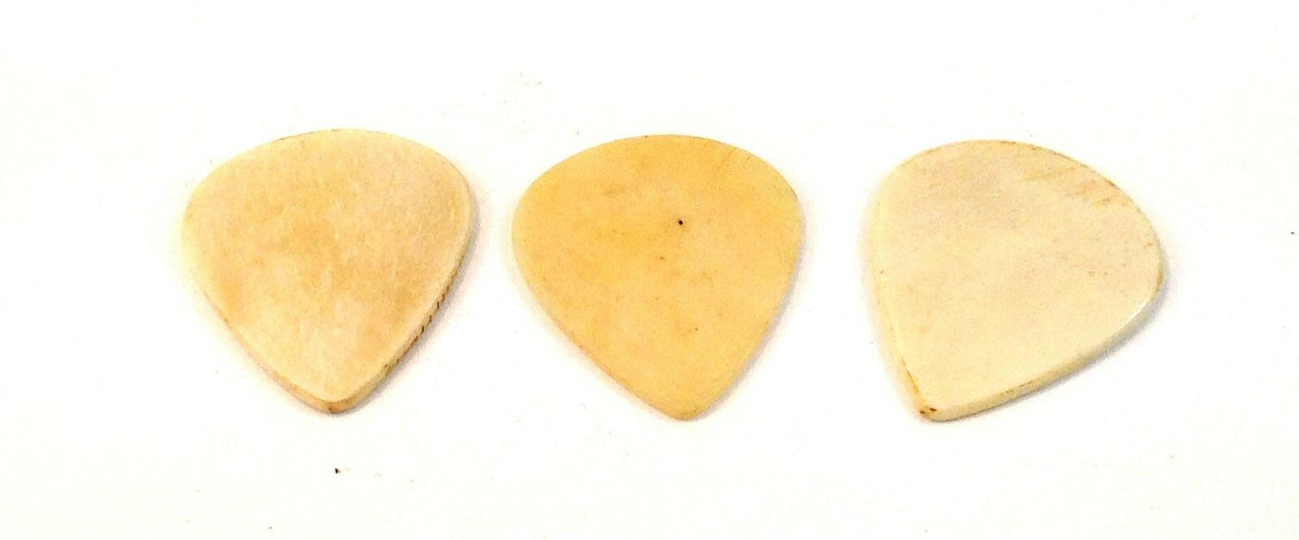 Clayton Guitar Picks Exotic Series Sleek Bone 3 Pack.