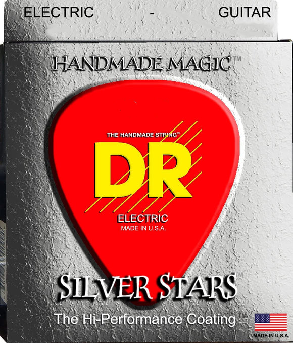 DR Guitar Strings Electric SIlver Stars K3 High Performance Coated 12-52