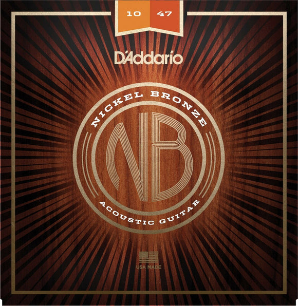 D'Addario Acoustic Guitar Strings Nickel Bronze 10-47