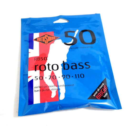 RotoSound Bass Guitar Roto Bass RB50 Heavy 50 70 90 110 Nickel Steel.