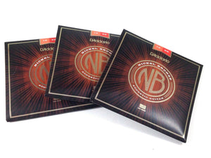 D'Addario Acoustic Guitar Strings 3 Pack Nickel Bronze 13-56.
