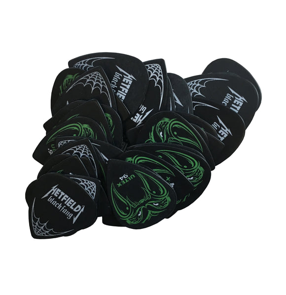 Dunlop Guitar Picks  James Hetfield (Metallica)  Black Fang  .94mm  36 Pack.
