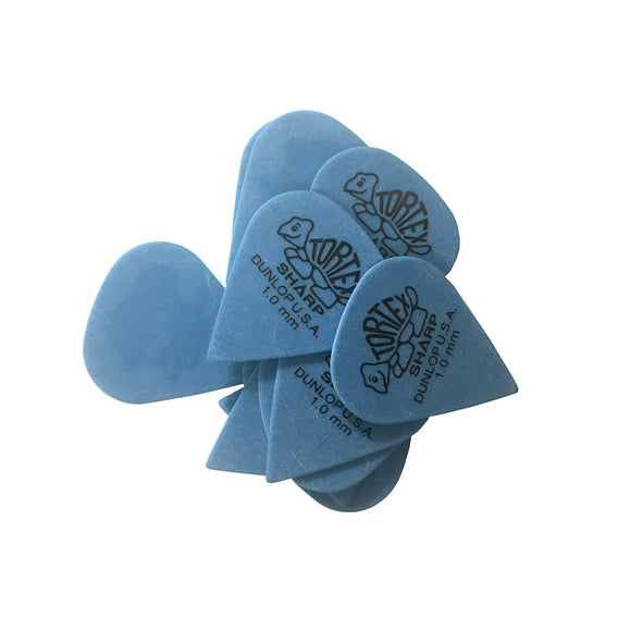 Dunlop Guitar Picks  12 Pack Tortex Sharp 1.0 picks 412P1.00