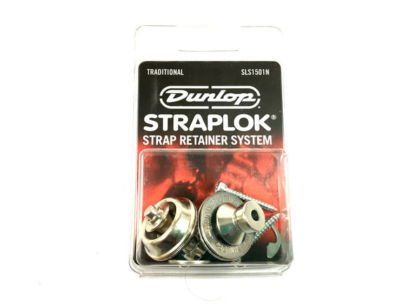 Dunlop Strap Locks - Guitar - Traditional Strap Retainer System Nickel