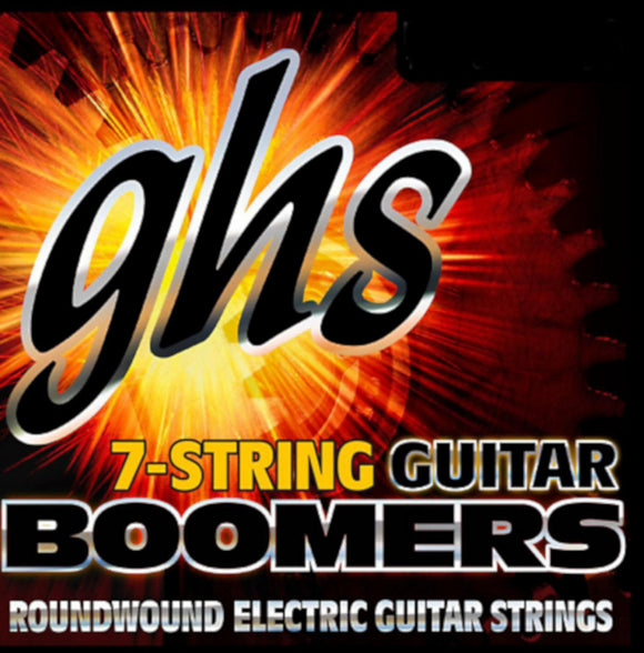 GHS Boomers Guitar Strings 7-String Roundwound Electric Light 9-58