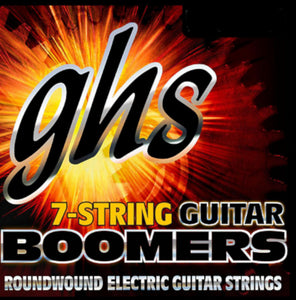 GHS Boomers Guitar Strings 7-String Roundwound Electric Custom Light 9-62