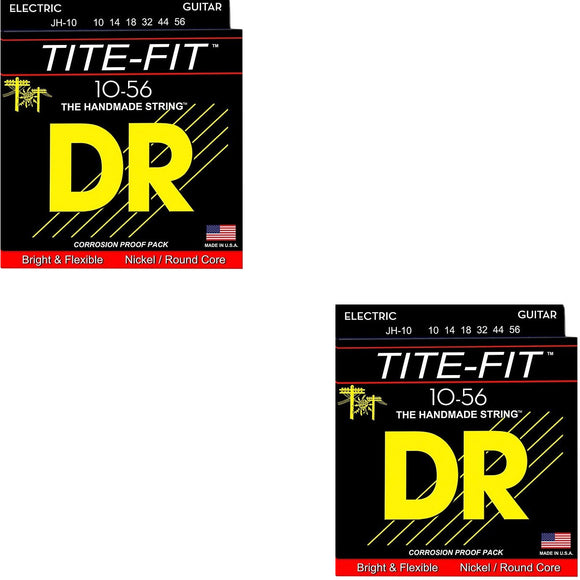 DR Guitar Strings 2-Sets Electric Tite-Fit 10-56 Jeff Healey Handmade USA