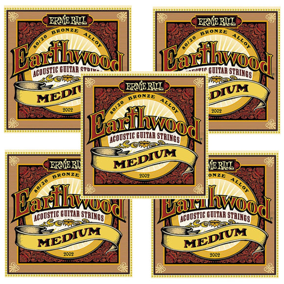 Ernie Ball Guitar Strings 3-Pack Acoustic Earthwood Medium 13-56 2002