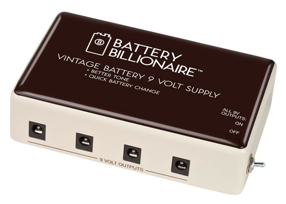 Danelectro Battery Billionaire Battery Power Supply 9-Volt with Kill Switch.