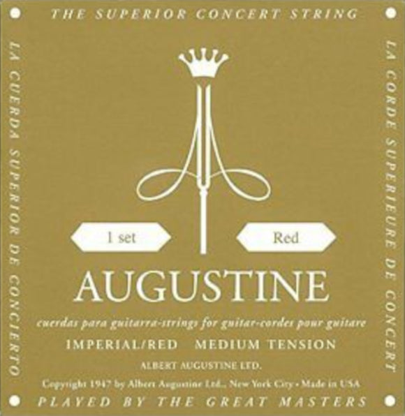 Augustine Guitar Strings Classical Imperial Red Medium Tension 527A