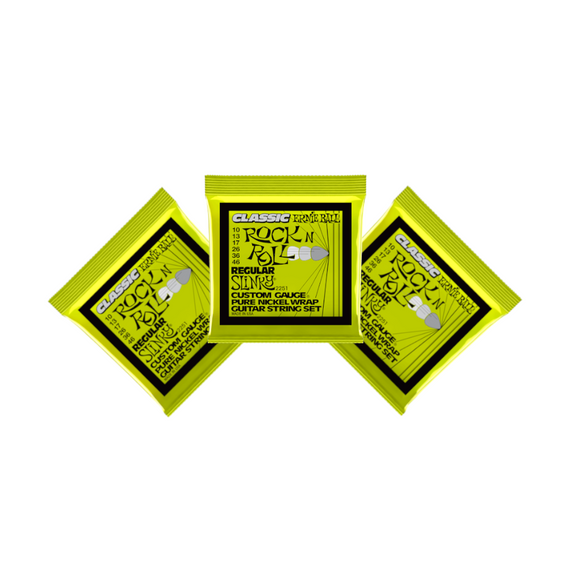 Ernie Ball Guitar Strings 3-Pack Classic Nickel Wrap Regular Slinky Electric 2251 10-46.