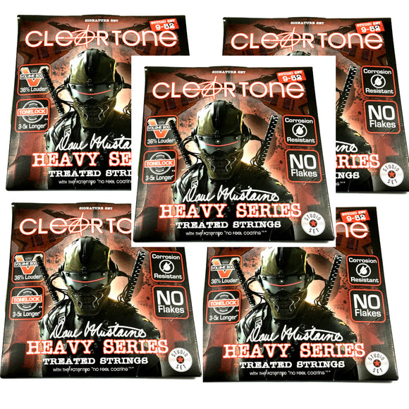 Cleartone Guitar Strings 5-Sets Electric Dave Mustaine Signature 09-52.