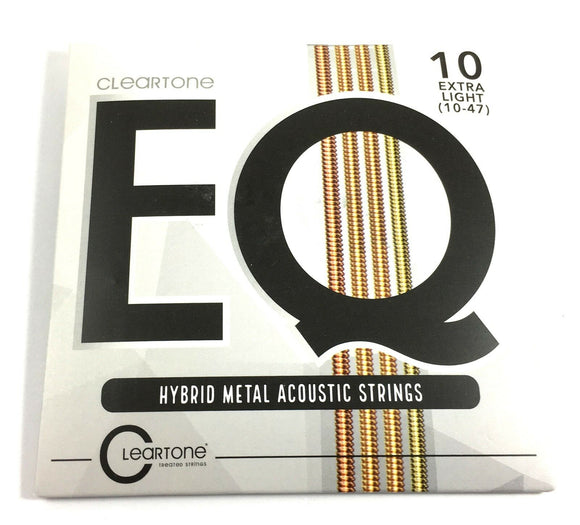 Cleartone Guitar Strings EQ Acoustic Hybrid Metal Blend Extra Light 10-47
