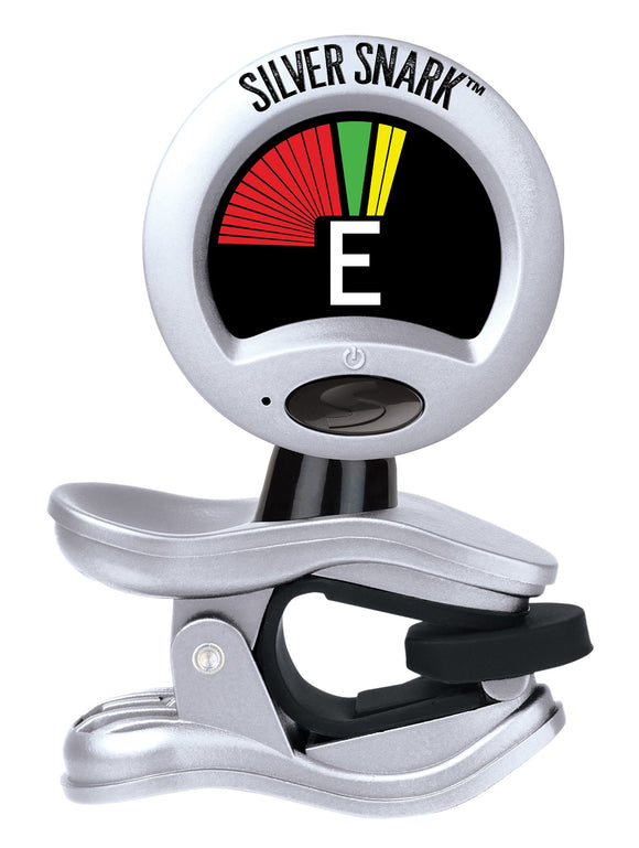 Snark Tuner Silver Snark Tunes All Instruments  Pitch Calibration Rubber Joints.
